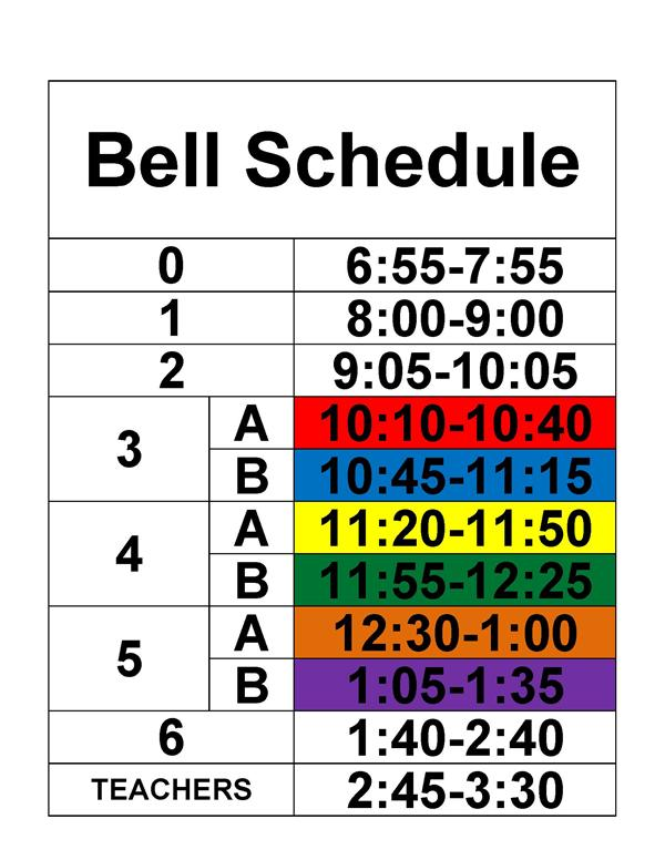 bell schedules overview