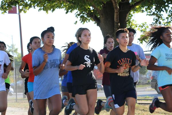 Record Turnout For Morton Girls Cross Country Team