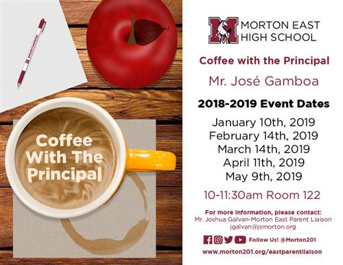 East Coffee with the Principal 2018-2019