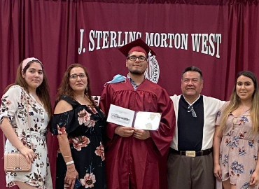 Morton West Class of 2020 graduate given a special graduation ceremony