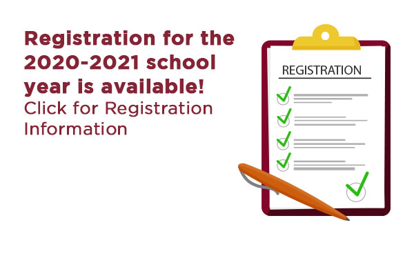 2020-2021 Registration is available