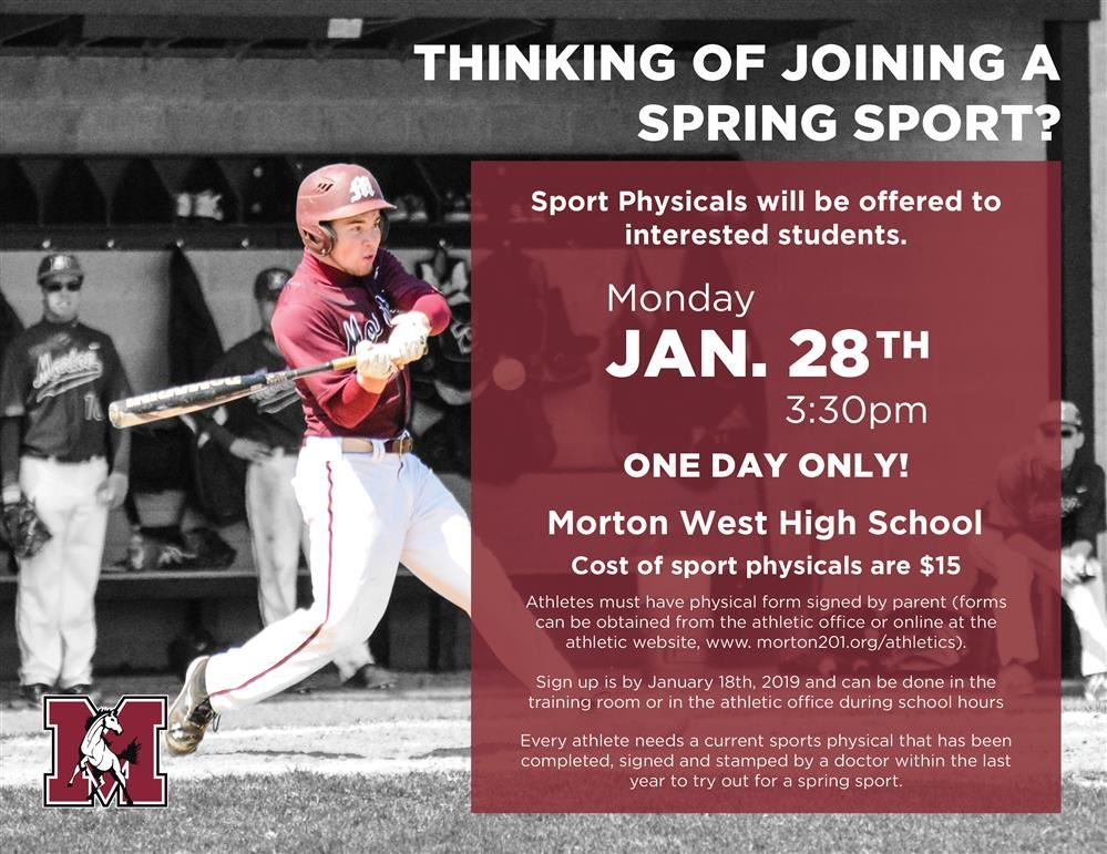 Spring Sport Physicals Flyer 2019