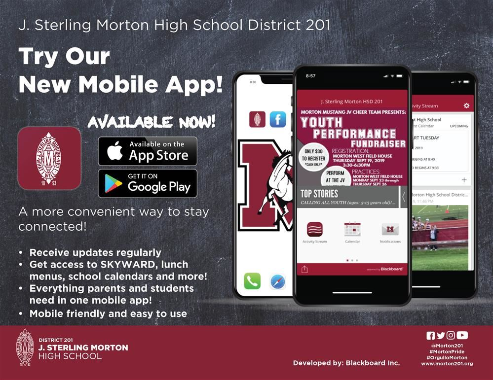 Blackboard District Mobile App Flyer